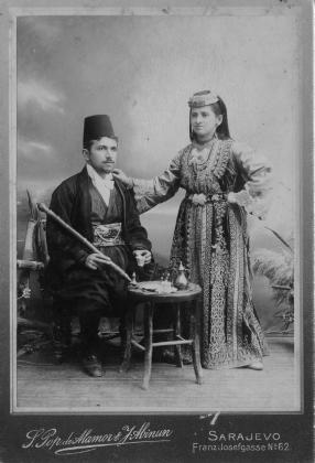 Couple séfarade de Bosnie, début du XXe siècle