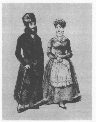 Juifs polonais de Varsovie (1846, Musée d'Israël, Jérusalem)