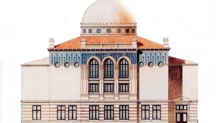 La synagogue d'Helsinki a été construite en 1906, sur un terrain donné par la municipalité, près du marché où les juifs exerçaient la seule profession qui leur était autorisée : marchands de vêtements d'occasion.