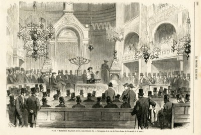 Synagogue de Nazareth fut inaugurée en 1822. Une cour accueillait les fidèles derrière une façade sobre. A l'intérieur, on remarquait tout particulièrement les treize colonnes massives. La bimah était installée au centre et les motifs décoratifs rappelaient le néoclassicisme.