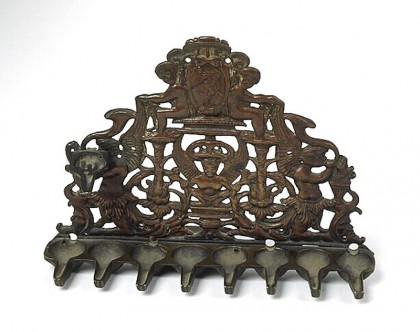 Lampe de la Reconsécration, Italie (XVIe siècle, Musée d'art et d'histoire du judaïsme)