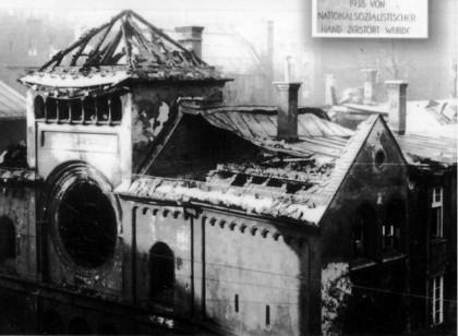 Une synagogue détruite pendant la Nuit de cristal