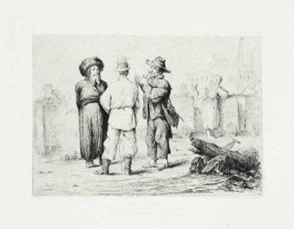 Juifs polonais (vers 1865, bibliothèque des Arts décoratifs, Paris)