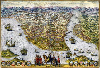 Plan de Constantinople, XVIe siècle