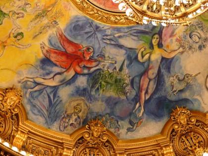 Plafond de l'Opéra Garnier par Marc Chagall
