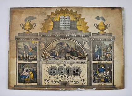 Mizrah Indiquant la direction de Jérusalem (Musée d'Art et de Traditions populaires, Marmoutier)