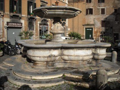 Fontaine célébrant les 5 anciennes synagogues de Rome