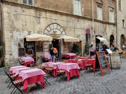 Restaurant dans l'ancien ghetto juif de Rome