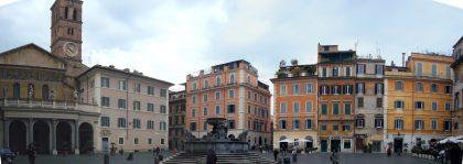 Place centrale du quartier de Trastevere où vécurent de nombreux juifs à Rome