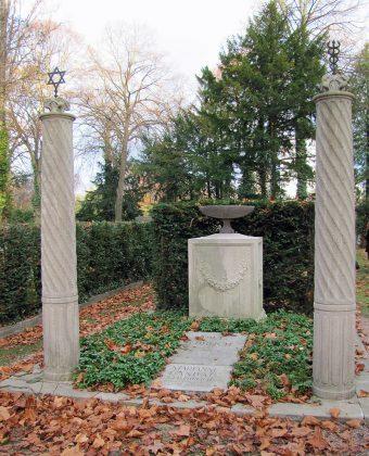 Monument installé au cimetière juif de la ville de Francfort