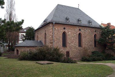 Petite maison accueillant la synagogue de Worms