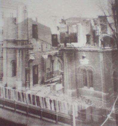 Destruction de la Synagogue de Zagreb, 1941