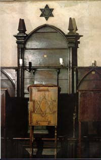 Siège supposé du rabbi Loew à la synagogue vieille-nouvelle, Prague