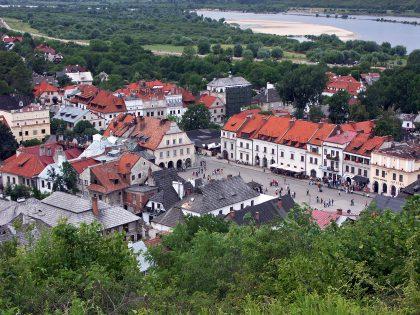 Vue aérienne du quartier de Kazimierz