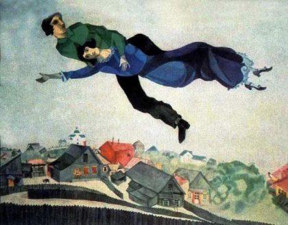 Marc Chagall, Au-dessus de la ville, 1914-1918, Galerie d'État Tretiakov, Moscou, Russie