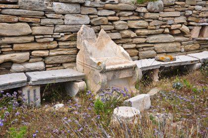 Trône de Moïse, synagogue, Délos
