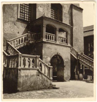 La synagogue Ajzyk en 1936 (Collection du Musée historique de la Ville de Cracovie)