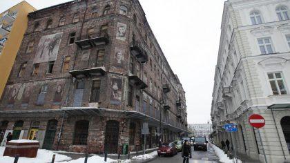 Un ancien immeuble du ghetto de Varsovie