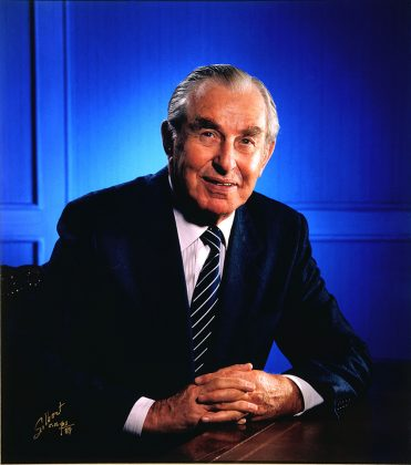 Photo of the former President of Israel, Chaim Herzog, originally from Ireland