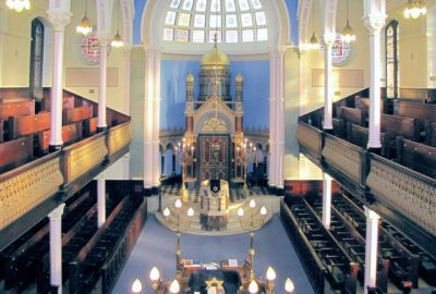 View of the interiors. The Garnethill synagogue is the oldest one in Glasgow.