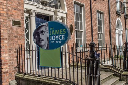 Gate of the James Joyce centre in Dublin