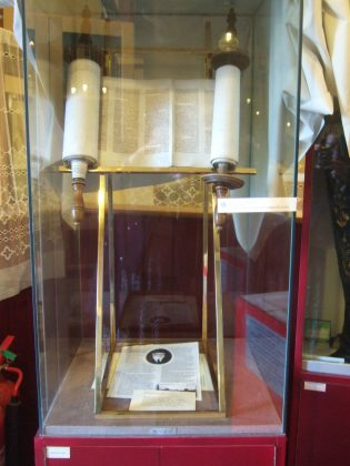Torah Scrolls displayed at the Irish Jewish Museum of Dublin