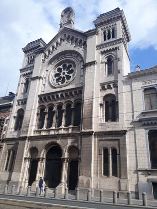 Outside view of the Grande Synagogue de l'Europe in Brussels
