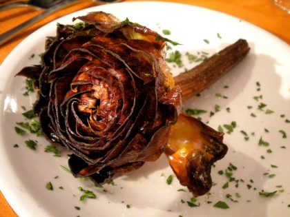 Famour Jewish roman dish made up of artichokes
