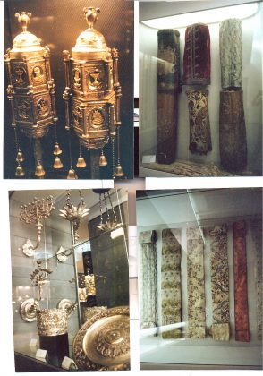 Objects displayed at the Jewish Museum of Rome