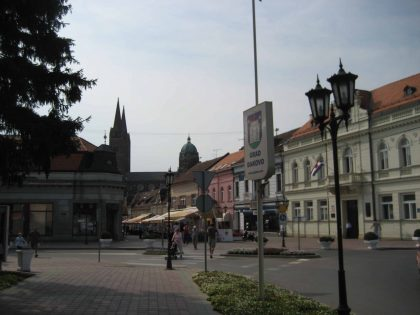 City center of Djakovo in Croatia