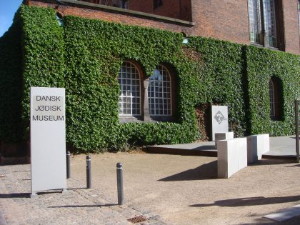 Entry of the Jewish Museum of Copenhagen marking the link between the old and the new aspects of the life of Danish Jews