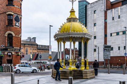 Jaffee fountain in Belfast, erected in the memory of Daniel Jaffee
