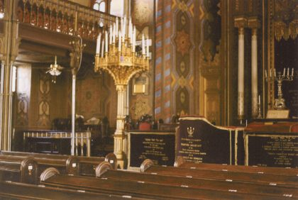 Inside the biggest synagogue in town, built in 1864