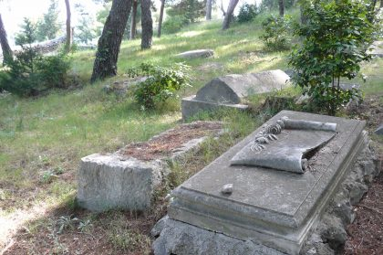 Graves at the cemetery of the city of Split