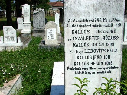 Tombstones of the Jewish cemetery of Sighet honoring the Holocaust victims.