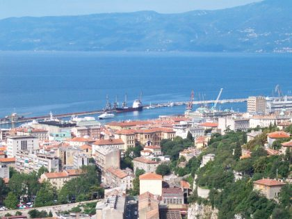 view of the port city of Rijeka