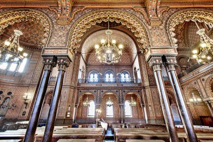 Interiors of the synagogue and Jewish Museum of Florence