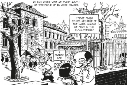 Bande dessinée hommage de Michel Kichka à son père