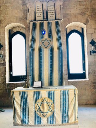 Drape belonging to a synagogue in Puglia
