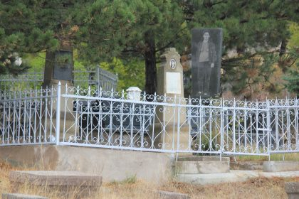 Tombs behind gates at the Jewish cemetery of Akhaltsikhe in Georgia