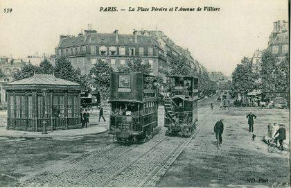 Photo ancienne de la Place Pereire, nommée en hommage aux célèbres frères Pereire, industriels et mécènes juifs